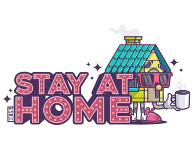 Stay at home 2 glasses casita casa vector safe home house stay-at-home