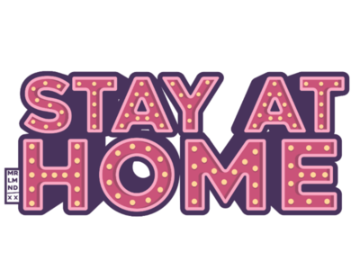 Stay at home 3 casita casa letters lettering vector safe house home stay-at-home