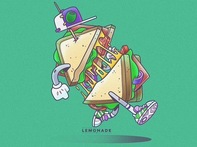 Lunch time! eat emparedado comida cheesy cheese yommi sandwich character illustration food