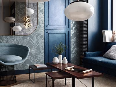 Hotel Visualization coronarender photorealistic hotel beautiful living room 3dsmax visualization 3d render interior design