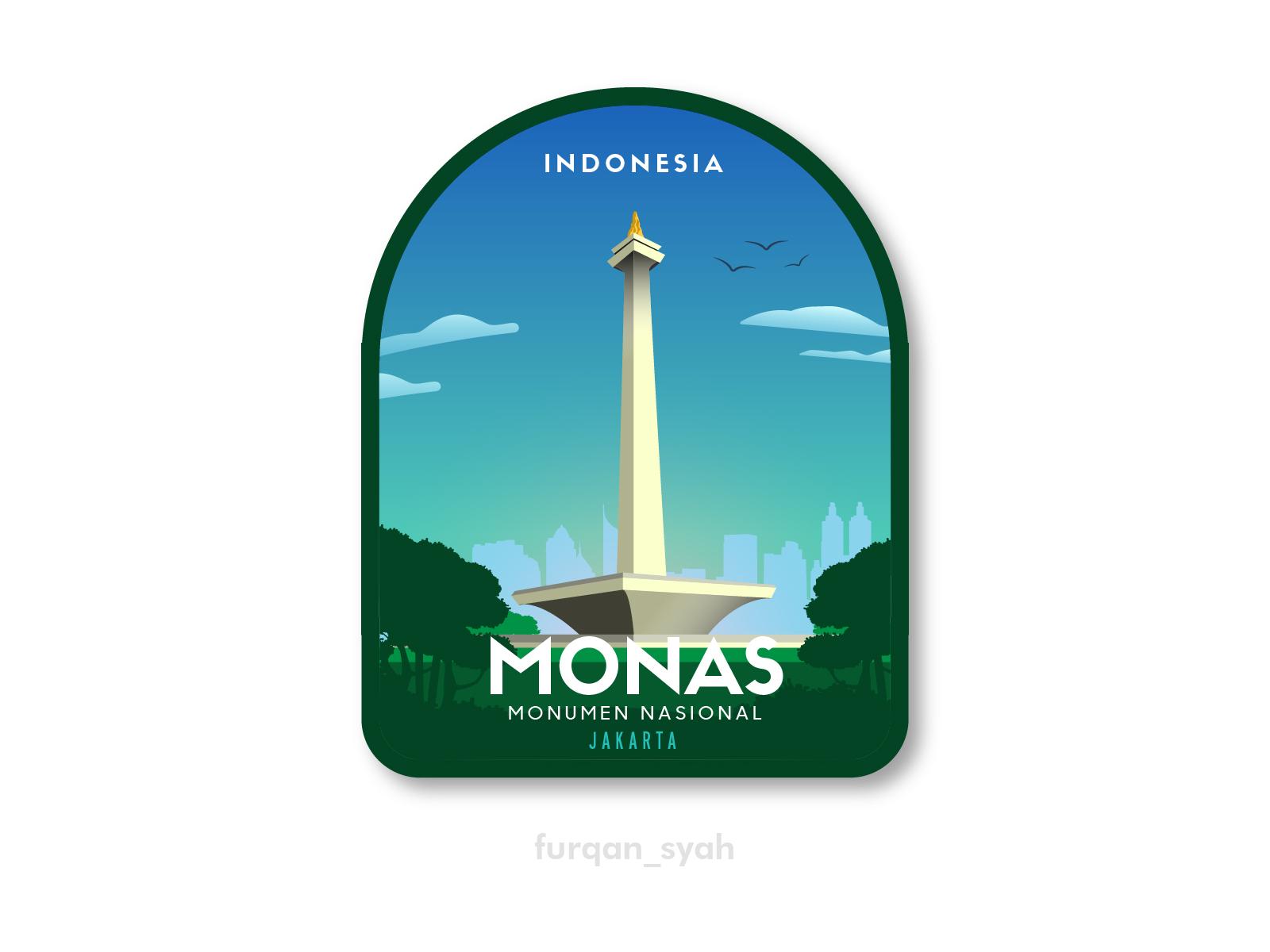 Monas Badge Design By Furqan Muhammadsyah On Dribbble
