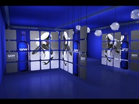 Exhibition design from Skyy Vodka