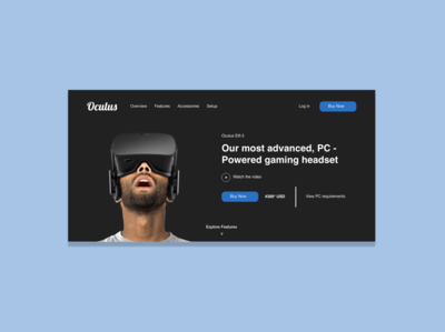 Oculus Website Landing Page