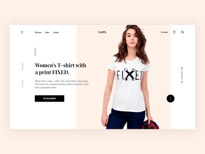 YAPPI shop. UI redesign concept welcome debut shot debut thank you interface first shot hello dribbble hello dribbbble store shop fashion e-commerce typography ux ui design