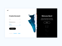 Nike – UI concept – Sign Up & Sign In