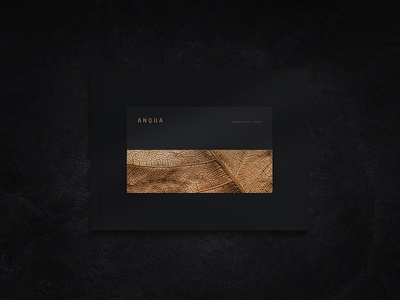 Anqua Portfolio / Brochure product brochure landscape book architecture portfolio design showcase portfolio