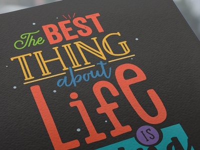 Words to Live by digital art calligraphy graphic design