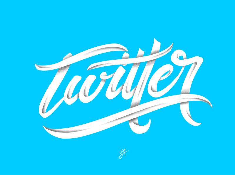 TWITTER illustration affinity designer lettering clean handlettering logo design logo design typography branding