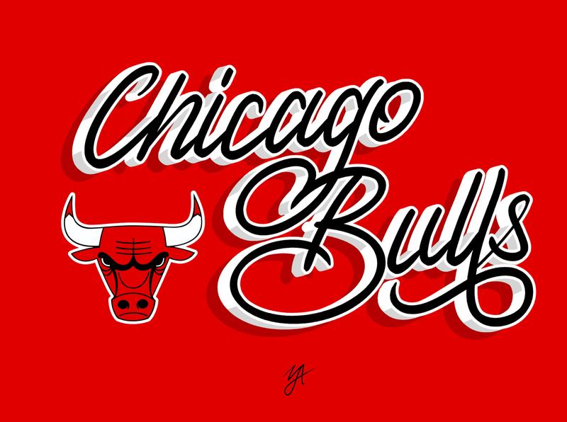 BULLS identity lettering clean affinity designer handlettering logo design logo design typography branding