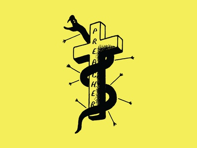 PREACH! identity logo branding lettering illustrator vector type typography illustration design