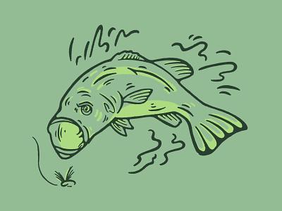 fishey fishey identity branding logo illustrator vector illustration design