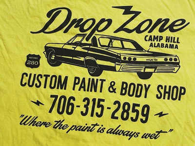 Drop Zone Tee lettering illustrator vector type typography illustration design