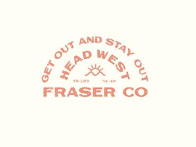 Head Out West lettering branding vector illustrator type illustration typography design