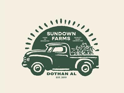 SunDown Farms identity logo branding lettering illustrator vector type illustration typography design