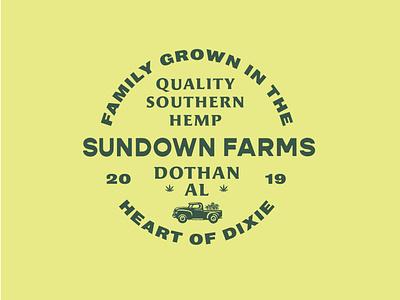SunDownFarms identity logo branding lettering illustrator vector type illustration typography design