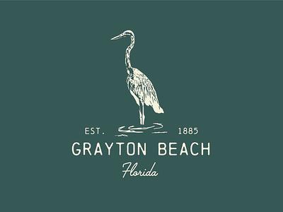Grayton Beach Logo 2~ identity logo branding lettering illustrator vector type illustration typography design