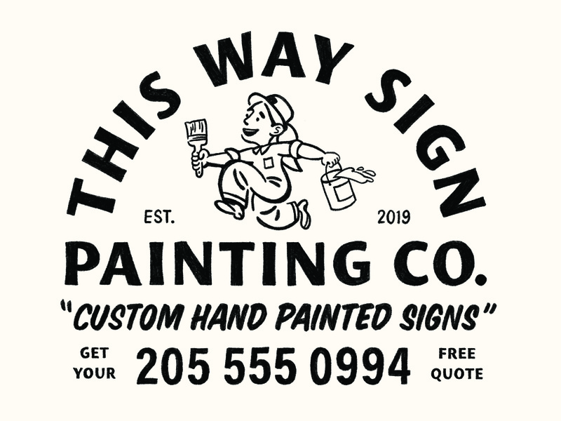 This Way Sign Painting Co.