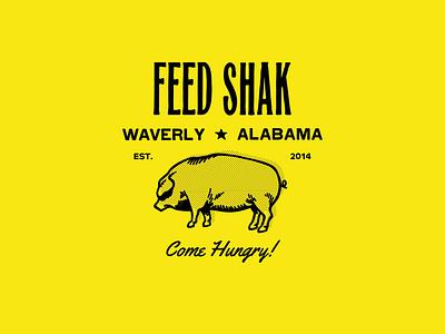 FEED SHAK logo lettering illustrator vector type illustration typography design