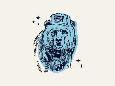 Standard Deluxe Bear logo lettering branding illustrator vector type illustration typography design