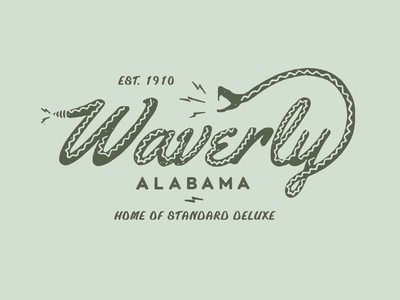Waverly issssssssssss cool identity logo lettering branding illustrator vector type illustration typography design