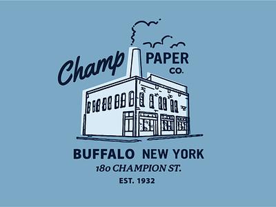 Champ Paper Co. identity logo branding lettering illustrator vector type illustration typography design