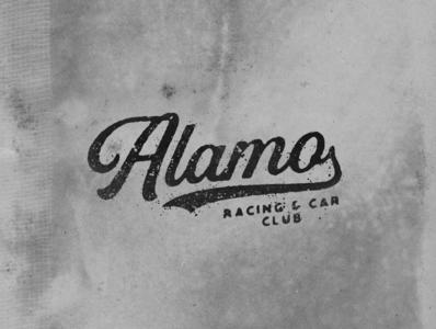 Alamo Racing & Car Club logotype vintagetype vintage logo type graphicdesign logo