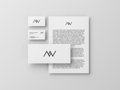 A + W letter mark/monogram
