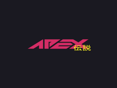 Apex Legends cyberpunk logo concept