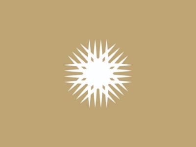 Sun logo icon concept