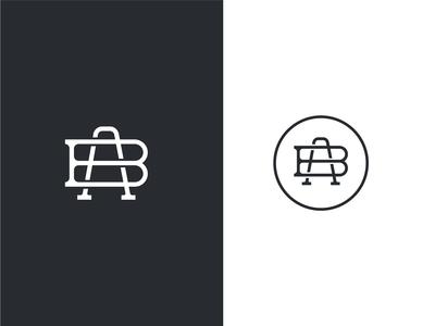A + B monogram