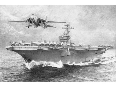 USS John F Kennedy john f kennedy drawing pencil