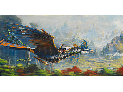 Run Away Dragon illustration acrylics