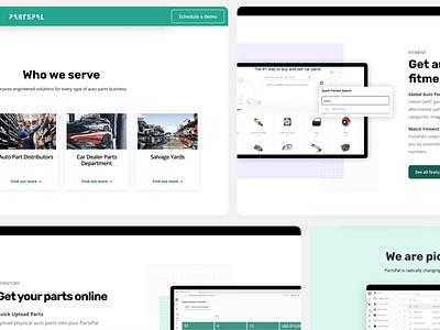 PartsPal Landing page websites web design landing page webflow redesign branding startup ui design