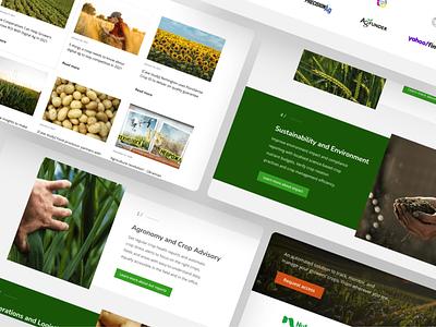 Flurosat Landing Shots crops blog ui design branding presentation ui design webflow agriculture agritech