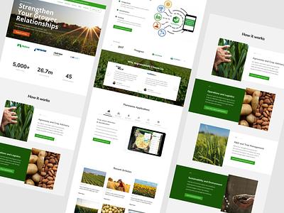 Flurosat Redesign Lander agritech web graphics logo software webdesign ux ui website design webflow design