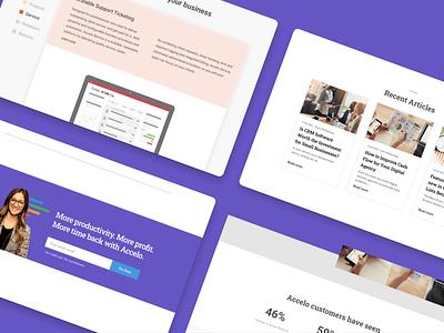 Accelo Landing Page enterprise uiux b2b design software webflow web design landingpage