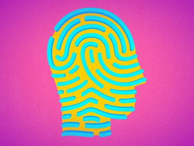 Head Finger Print Logo Animation