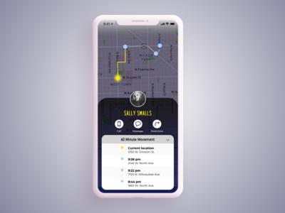 Daily UI Challenge #20 Location Tracker uidesign maps location tracking tracker app 020 dailui