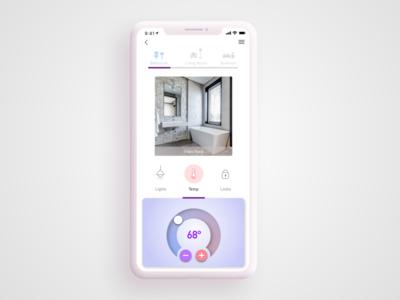 Daily UI Challenge #21 Home Monitoring Dashboard monitoring tempature dashboard monitor uidesign home 021 uichallange