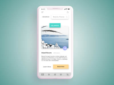 Daily UI Challenge #22 Search travel app islands travel user interface ui search bar search 022 dailychallenge dailyui