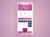Daily UI Challenge #24 Boarding Pass