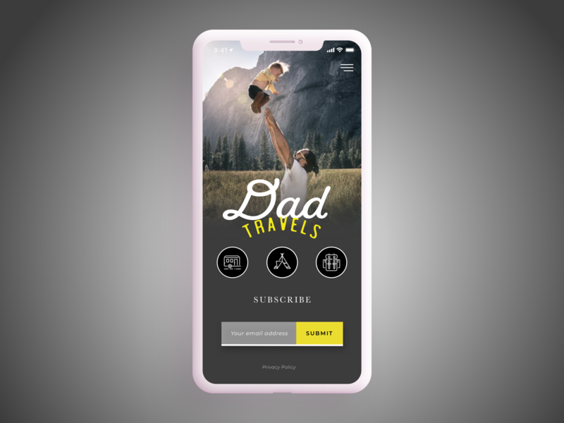 Daily UI Challenge #26 Subscribe dad sign up camping travel uidesign appdesign subscribe 026 dailychallenge dailyui