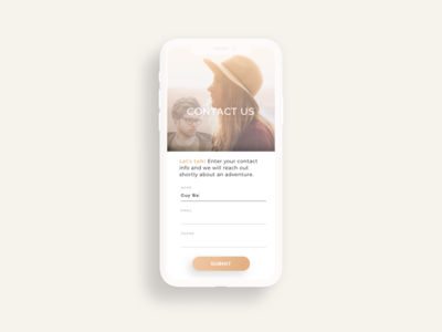 Daily UI Challenge #28 ContactUs
