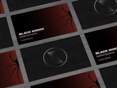 Black Widow Business Card superhero marvel design business card