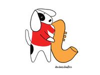 Saxophone doggo