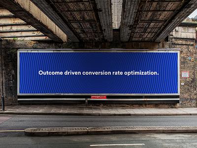 Outcome driven conversion rate optimization. facebook cover facebook ad facebook cro conversion rate optimization cover design convertcart billboard design billboard