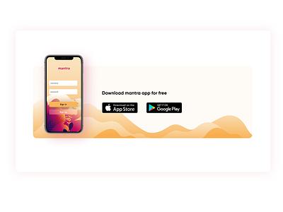Mantra website design india yoga meditation softwaredesign software vector product page uiux web design product landingpage