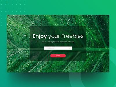 Enjoy your freebies ui teamnomads vector india typography branding design