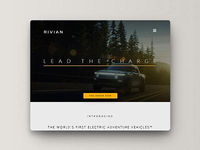 Rivian website re-design xd uiux redesign website concept website design rivian branding design