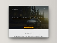 Rivian website re-design
